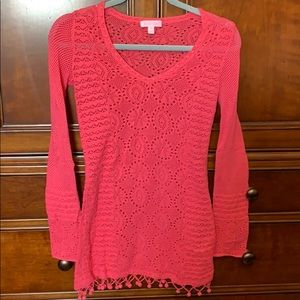 Lily pink cotton sweater!